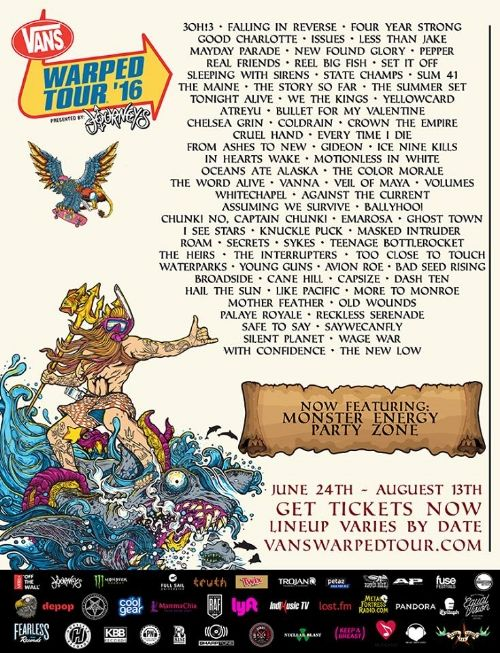 Vans Warped Tour Lineup Announced for 2016 — The Creativity Chronicles