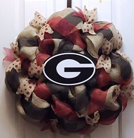 A personal favorite from my Etsy shop https://www.etsy.com/listing/260278279/university-of-georgia-wreath-uga-wreath