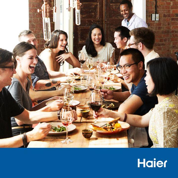 #TroposZois ...Το να καλείς τους φίλους σου για φαγητό χωρίς συγκεκριμένο λόγο!  #HaierGR