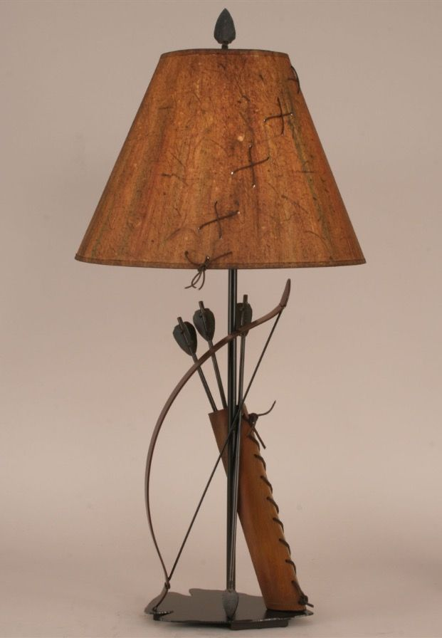 iron bow and arrow with quiver table lamp south western decor - Lamp Shades For Table Lamps