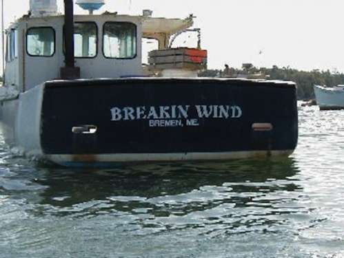 Breakin wind..haha...would be a great name for a sailboat!