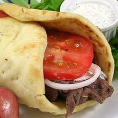 Venison Gyros Recipe - Allrecipes.com This is a simple yet very tasty recipes for gyros! I used deer loin marinated for at least 6 hrs. with a cucumber sauce. Yummy!! Taste just like the restaurants gyro I get for $20.00 a plate! Make sure to add the thin sliced tomato, lettuce & onion.