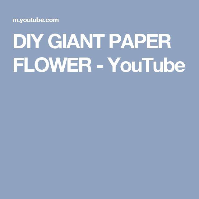 DIY GIANT PAPER FLOWER - YouTube