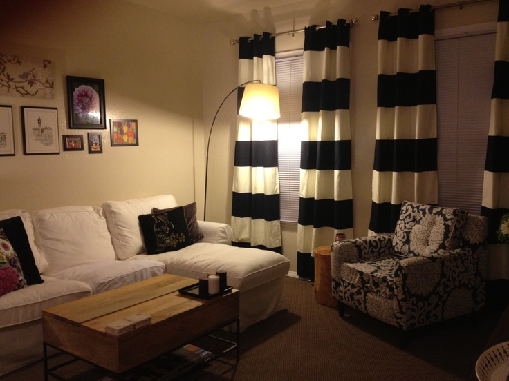 Black And White Horizontal Striped Curtains 175 Blue Bedroom CurtainsLiving Room