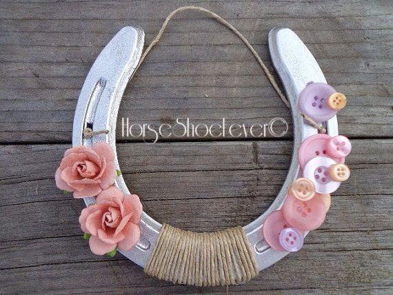 Buttons & Roses. Decorative Horseshoe.  Western by HorseShoeFever, $19.99
