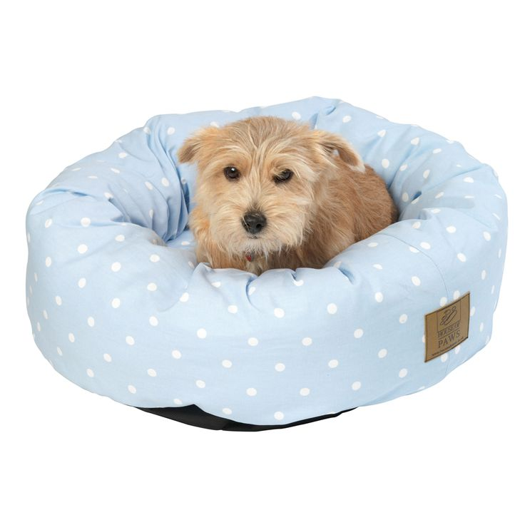 Donut Dog Bed in Blue £34.99- 54.99 #dogbed #bluedogbed