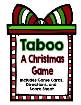 This Christmas Taboo Game is a really great oral language activity for elementary and middle school. Students work against the clock to get their teammates to guess the TABOO word at the top of their game card without using any of the related words that are on the card.