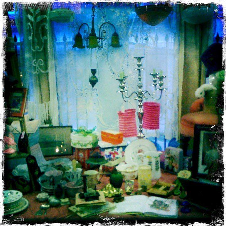 Beautiful vintage treasures at Hay Does Vintage in Hay-on-Wye.