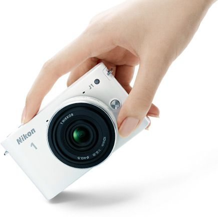BeachCamera.com - Nikon 1 J1 SLR Black Digital Camera w/ 10-30mm VR Lens