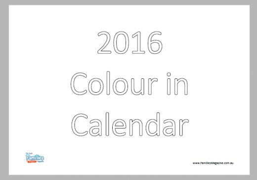 #Download and #colour #in our #2016 #Australian #calendar with your #kids these #school #holidays. Each #month has it's own highlight with an event that happens in that month.