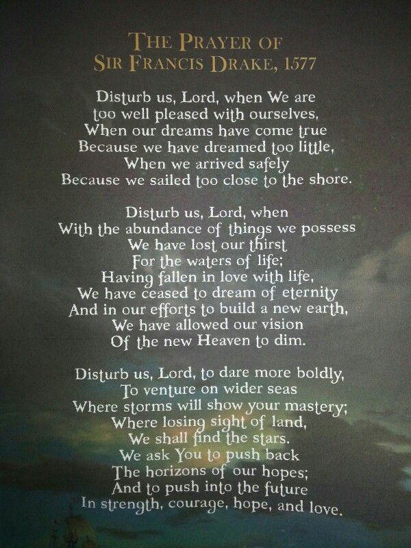 The Prayer of Sir Francis Drake.
