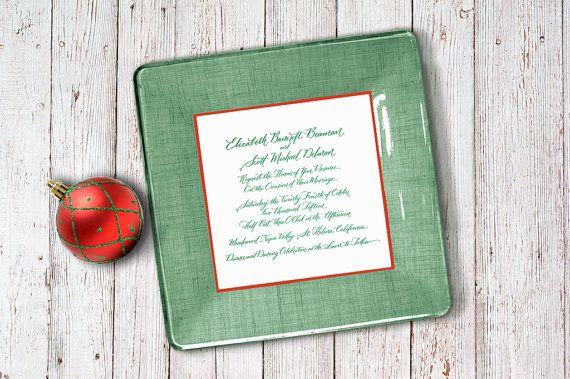 christmas wedding invitation keepsake - unique wedding gift - 1st anniversary gift - unique christmas gift idea - best gift - for couples -