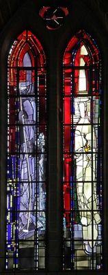 Georg Meistermann   Köln, Kath. Kirche St. Gereon.Die zwölf Apostel: St. Jakobus der Ältere und St. Johannes.  Georg Meistermann, 1984
