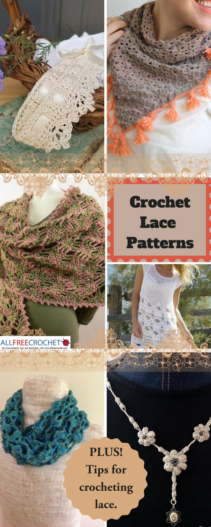 Find free crochet lace patterns and tips for crocheting lace!