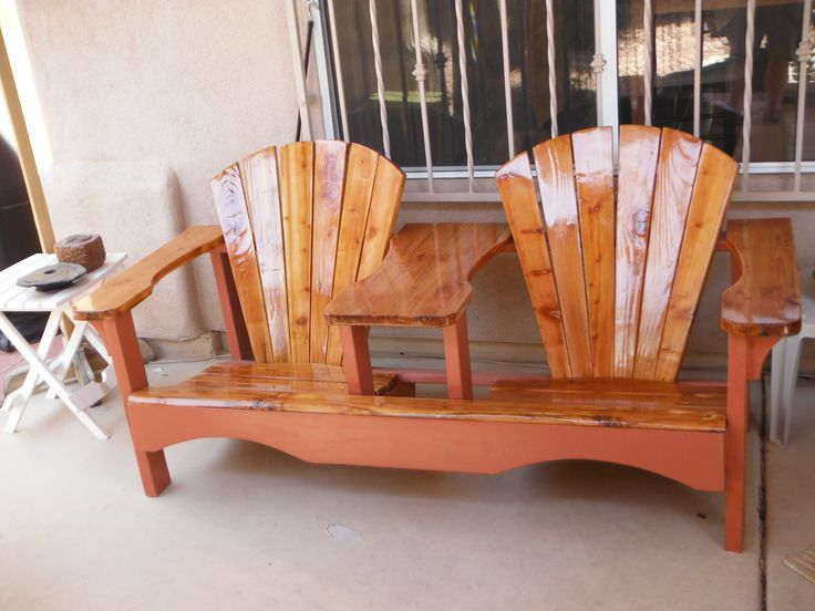 Settee Double Patio Chair,epoxy Table Tops ,spar Urethane For Sun  Protection.