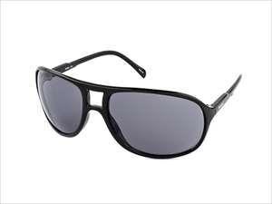 Timberland TB7098-01A Men's Aviator SUnglasses (Black Frame/Gray Lens)