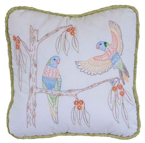 $7  The Rainbow lorikeets are number 5 in our Australian Bird series of stitcheries.