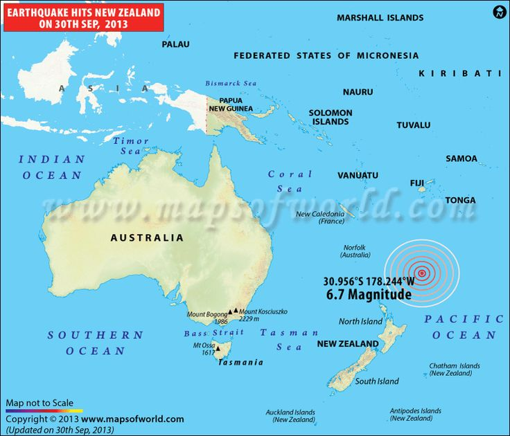 Earthquake in New Zealand on 30th Sep 2013