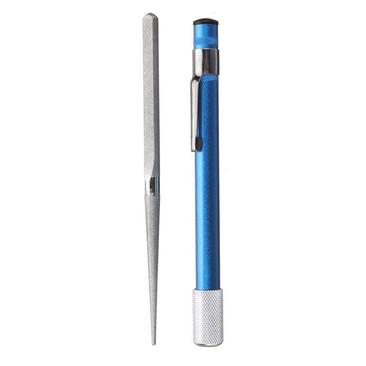 3in1 Pluma Afilado de la forma herramienta Caza pesca Afilador Cuchillo de diamante Sierra Gancho Bordes planos EDC herramienta