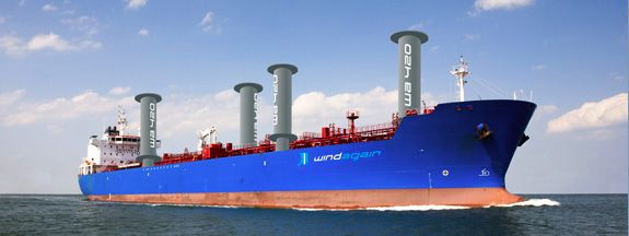 Flettner Rotors on a tanker