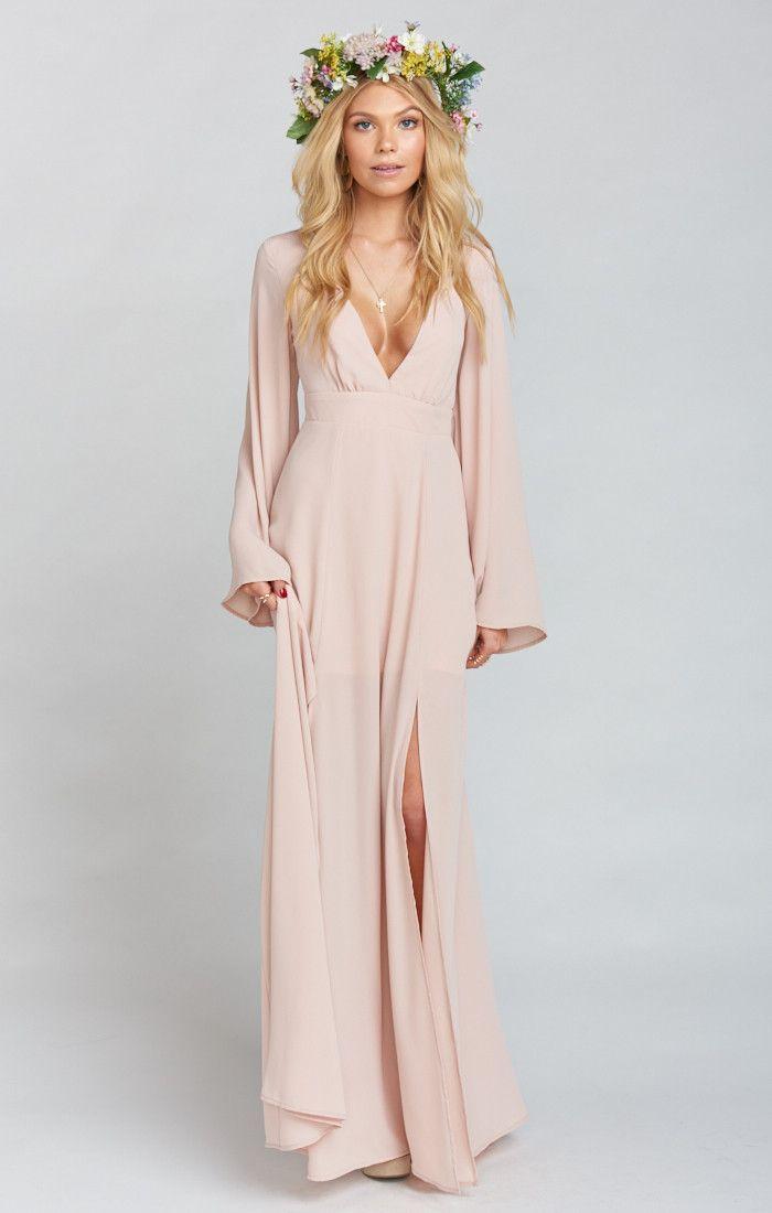 Long Cream Boho Dress