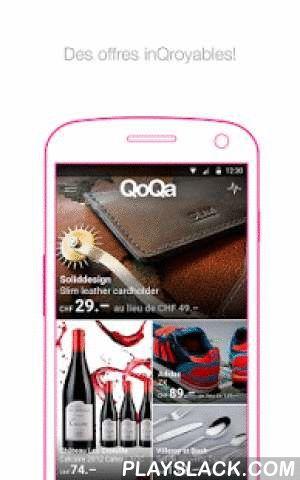 QoQa  Android App - playslack.com ,  Dans la vie, il y a deux sortes de personnes: celles qui font partie de la plus incroyable communauté du monde, et ceux qui le seront bientôt.Bien sûr, on ne te parle pas de la communauté des adorateurs de timbres népalais du XIXe, mais de la Qommunauté QoQa!Cékoi QoQa? C'est un site qui propose chaque jour à minuit une offre aussi canon qu'imprévisible: une Porsche, un câble HDMI ou des vols en apesanteur... Il faut attendre minuit pour savoir. Et si tu…