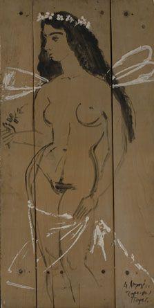 Spring, 1967, (Acrylic on wood)