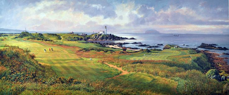 Donald Shearer Turnberry, Aisla Signed Limited Edition Print 12x30 | Scottish Contemporary Art