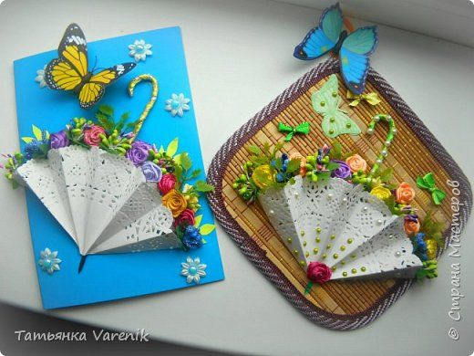 Готовимся к весеннему празднику!!!=) Хочу поделиться некоторыми интересными идеями открыток на 8 Марта  Создавайте поделки-открытки вместе с детьми. Развивайте у них творческий подход и чувство прекрасного!=) фото 7