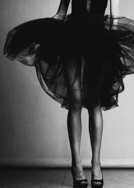 layers of black tulle