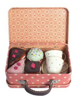 Tea Time Suitcase from Maileg Stuffed Animals & More on Gilt