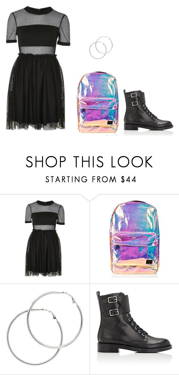 """Untitled #279"" by minnie300056 on Polyvore featuring Topshop, Spiral, Melissa Odabash and Gianvito Rossi"