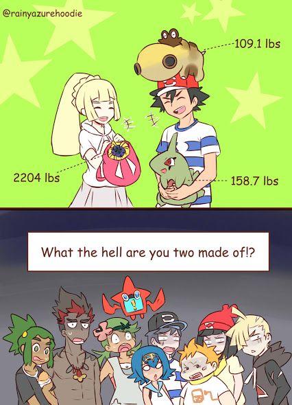 Pokemon' weights are always weird