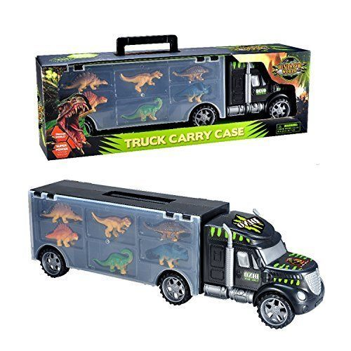 Dinosaurs Transport Car Carrier Truck Toy with Dinosaur Toys I...NEW! NO TAX #MegaToyBrand