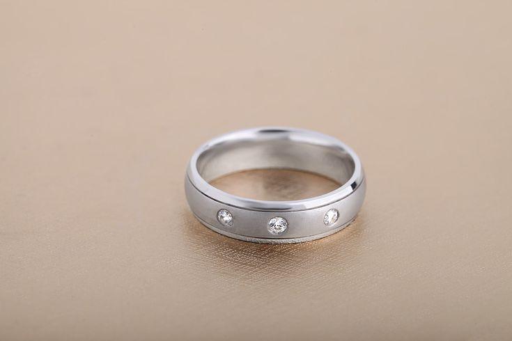 Verigheta/Inel cu Diamant Barbat Aur Alb 18kt cu 3 Diamante - RDWG002W
