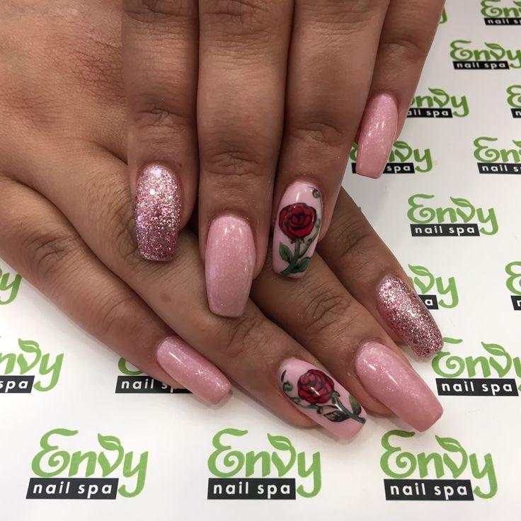 Nail Envy Legends Hours: Best 25+ Pink Glitter Nails Ideas On Pinterest