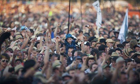 Glastonbury festival- 2014's tickets sold out in a record 1 hour and 27 minutes!