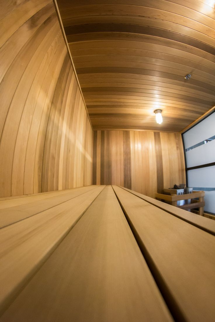 Beautiful Custom Cedar Traditional Sauna built into a Beautiful Downtown Vancouver Hotel - Hotel Blu. To have a custom sauna installed in your location, Call us at 604.544.5005 or visit us at www.blackstonesaunas.com