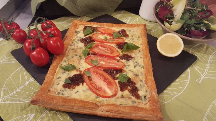 James Tanner's goats cheese and sweet onion tart