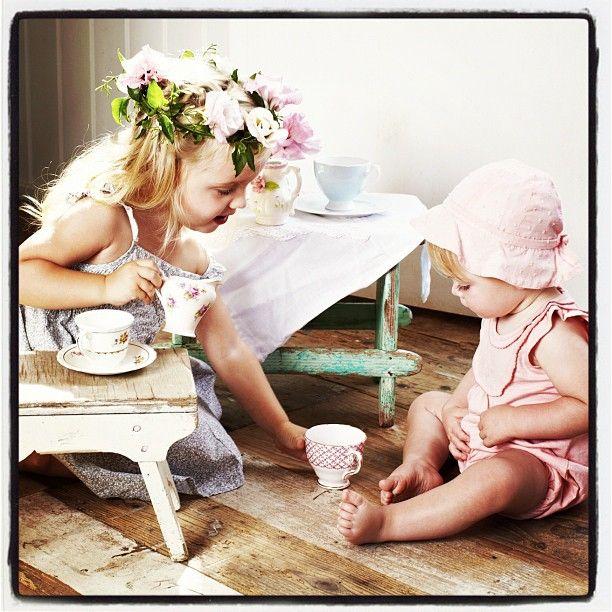 Summer girls basic collection.. Tea party! #floral #teaparty #fashion #organic #purebaby #baby #photoshoot #summer - @purebabyorganic- #webstagram