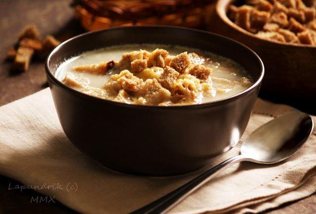 Грибной молочный суп с овсянкой.