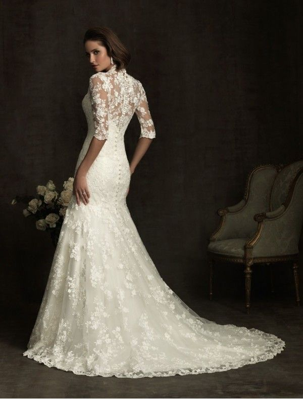 vintage wedding dresses | Home > Wedding Dresses > Lace Vintage Wedding Dresses with 3/4 Length ...