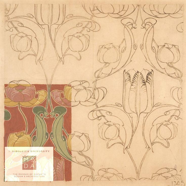36 best Art Nouveau - Textile and Wallpaper Designs images on ...