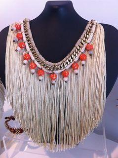 Long fridge necklace!!!