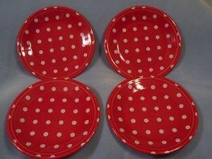 fiesta dinnerware makes scarlet polka dot plates my american kitchen - Fiesta Plates