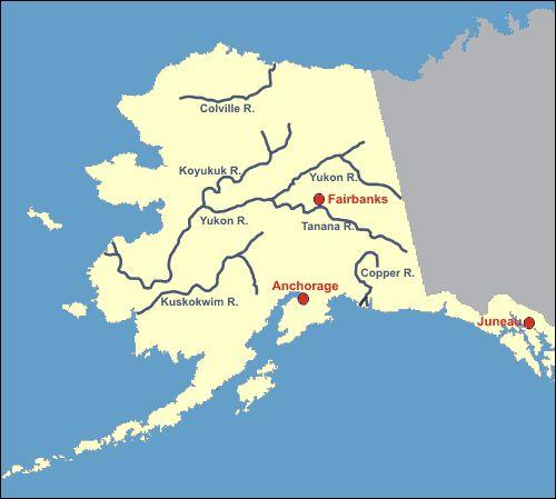Map Of Alaska Alaska Map Alaska Rivers Alaska