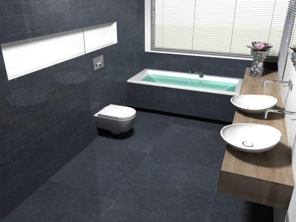 Mooie badkamer en indeling