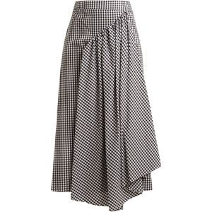 Simone Rocha Pleat-front gingham cotton midi skirt