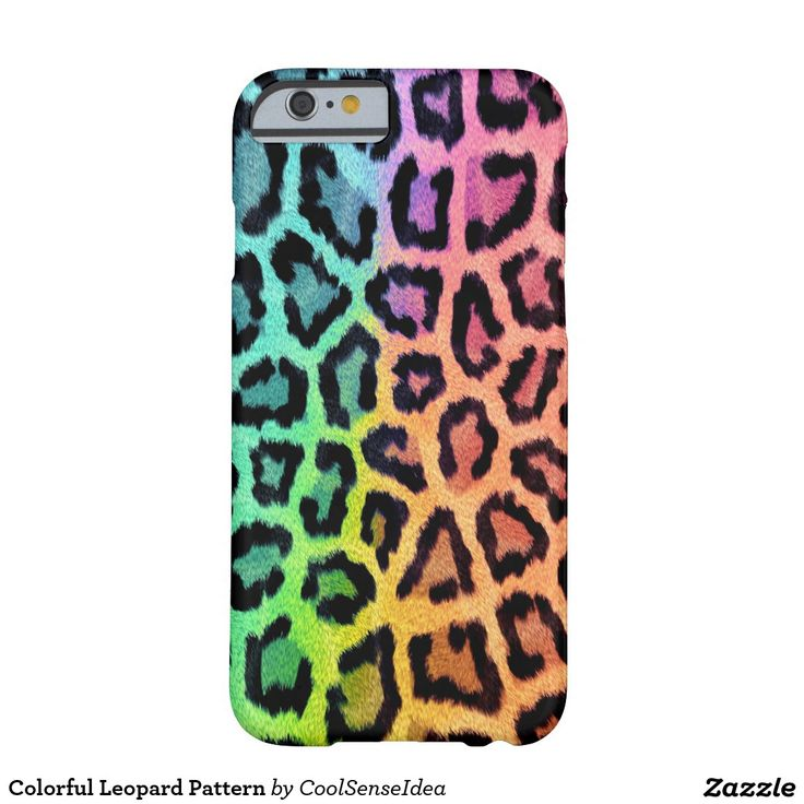 Colorful Leopard Pattern Barely There iPhone 6 Case