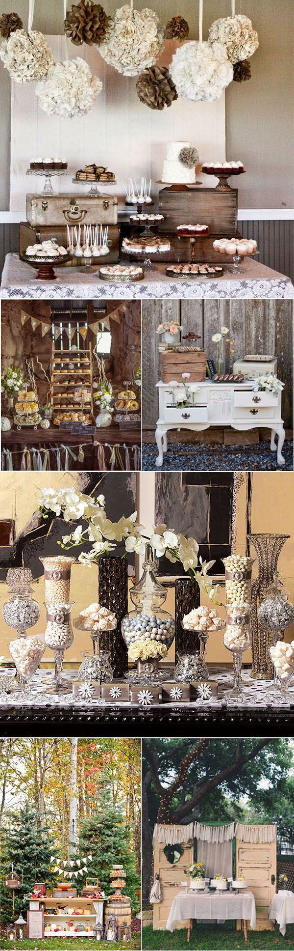Vintage wedding scrapbook ideas - Vintage Wedding Dessert Table